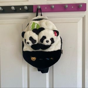NWT Kids Panda Backpack